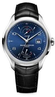 Baume & Mercier Clifton 10316 Stainless Steel& Alligator Strap Watch