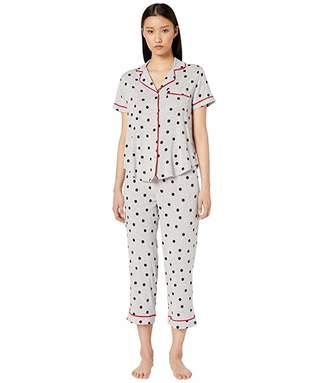 Kate Spade Jersey Knit Cropped Pajama Set