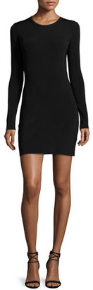 Elizabeth and James Priscilla Long-Sleeve Cutout Ribbed Mini Dress, Black $355 thestylecure.com