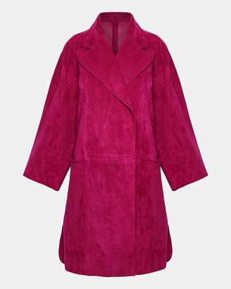 Theory Double-Faced Suede Kimono Coat