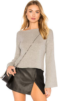 BCBGeneration Ribbed Cross Back Crop Sweater