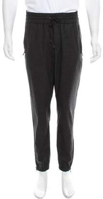 Vince Wool Zipper-Accented Joggers