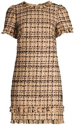 Kate Spade Heart It Bi-Color Tweed Shift Dress
