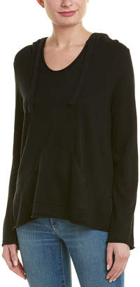 Monrow Hooded Wool & Cashmere-Blend Poncho
