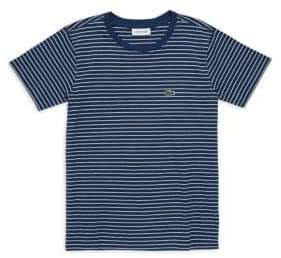 Lacoste Little Boy's& Boy's Stripe Tee