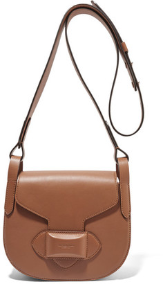 Michael Kors Collection - Daria Small Leather Shoulder Bag - Light brown $890 thestylecure.com