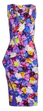 Chiara Boni Gota Strapless Floral Print Dress