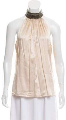 Ramy Brook Silk Embellished Blouse