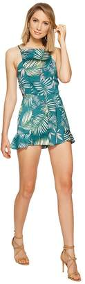 BB Dakota Wilder Palm Printed Romper Women's Jumpsuit & Rompers One Piece