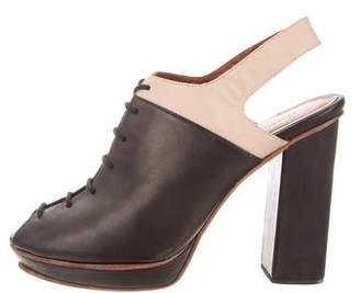 Rachel Comey Leather Peep-Toe Ankle Booties