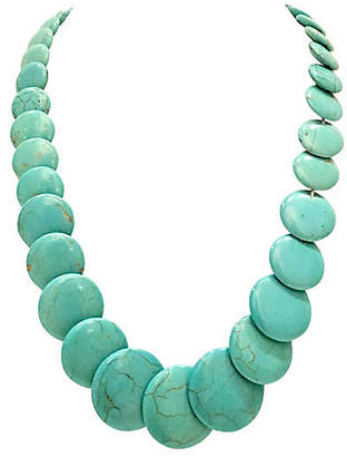 One Kings Lane Vintage 1970s Turquoise Bead Necklace - Jacki Mallick Designs