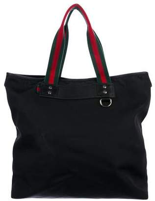 Gucci Large Nylon Web Tote