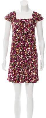 Issa Cat Print Silk Dress