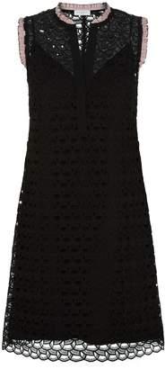 Sandro Ruffled Sleeveless Lace Dress