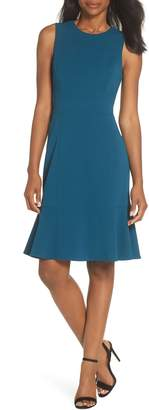 Eliza J Flounce Hem Scuba Sheath Dress