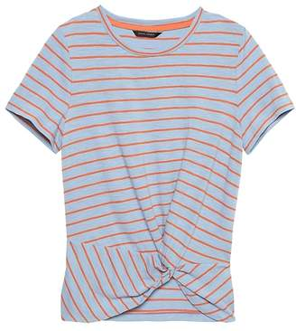 Banana Republic Petite Slub Cotton-Modal Twist-Front T-Shirt