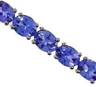 FINE JEWELRY Genuine Blue Tanzanite Sterling Silver 7.5 Inch Tennis Bracelet