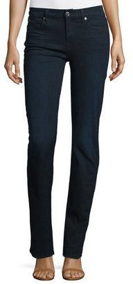 7 For All Mankind Kimmie Straight-Leg Jeans, Blue Black River $179 thestylecure.com
