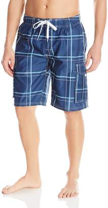 Kanu Surf Men's Flex Plaid Swimtrunk