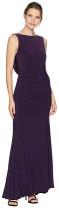 Adrianna Papell Side Draped Jersey Gown Women's Dress
