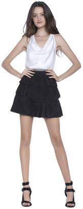 Alice + Olivia Iggy Pleated Mini Skirt