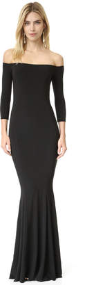 Norma Kamali Kamali Kulture Off Shoulder Fishtail Gown $295 thestylecure.com