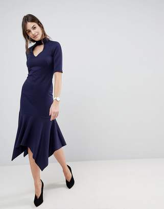 Asos Design DESIGN midi dress with pephem and collar