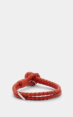 31fbaf2c0e41a Bottega Veneta Men s Intrecciato Leather Double-Band Bracelet - Red