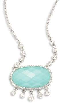 Meira T Diamond& Turquoise Doublet Pendant Necklace