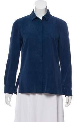 Akris Punto Pointed Collar Button-Up Blouse