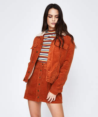 MinkPink Rebel Now Cord Jacket Orange