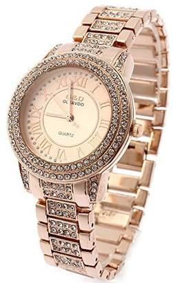 Dolce & Gabbana THE BRAND G&D Women's -Tone Stainless Steel Band Fashion Watch Quartz Analog Wristwatches