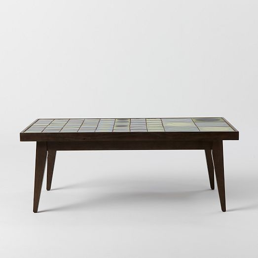 west elm Lubna Chowdhary Tiled Coffee Table - Green
