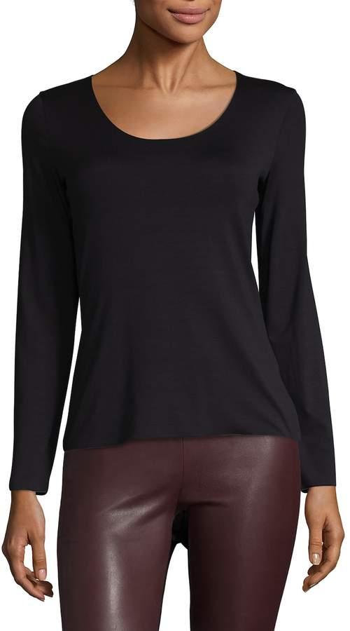 Armani Collezioni Women's Woven Scoop-Neck Pullover