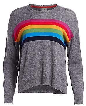Sundry Women's Rainbow Crew Cashmere & Wool Sweater
