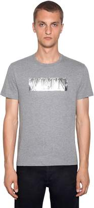 Valentino Embossed Logo Cotton T-Shirt