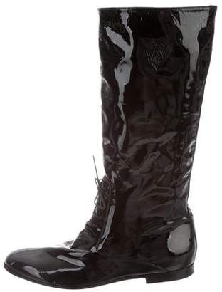 Gucci Patent Leather Tall Boots