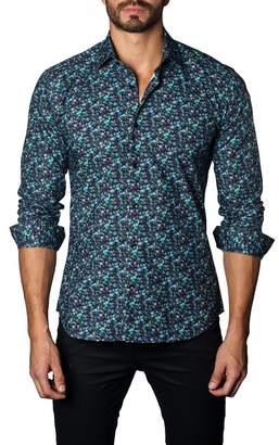 Jared Lang Dotted Print Trim Fit Shirt