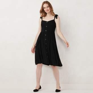 Lauren Conrad Women's Button Front Dress