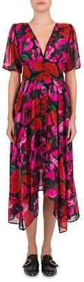 The Kooples Dolce Vita Silk Floral-Print Dress