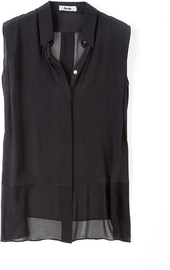 Acne Black Paris Sleeveless Blouse