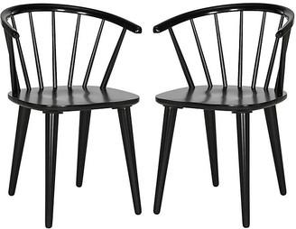 One Kings Lane Black Kathryn Side Chairs - Set of 2