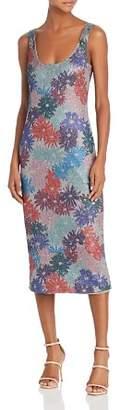 Splendid x Margherita Brillare Metallic Floral Print Tank Dress