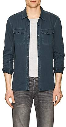 John Varvatos Men's Cotton Long-Sleeve Shirt - Navy