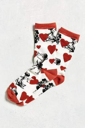 Urban Outfitters Cupid Hearts Sock
