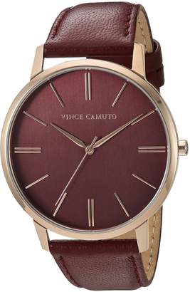 Vince Camuto Women's Quartz Stainless Steel and Leather Dress Watch, Color:Brown (Model: VC/5322RGBY)