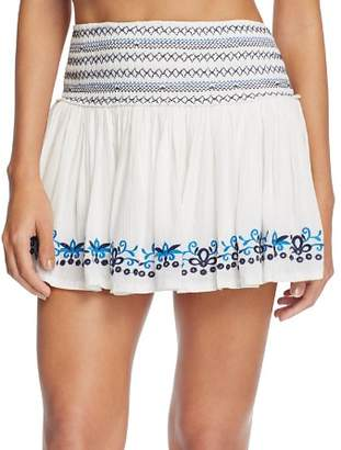 Surf Gypsy Embroidered Mini Skirt Swim Cover-Up