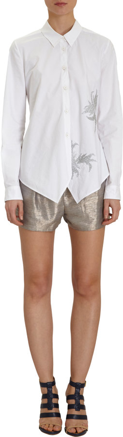 Maiyet Embroidered Point-Collar Shirt