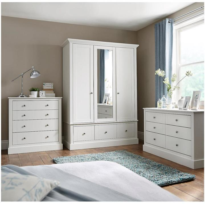 Consort Furniture Limited Dover Ready Assembled 2 Door Wardrobe Home