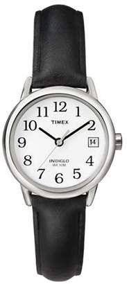 Timex Easy Reader Black Leather Strap Watch